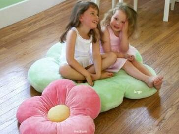 35 Daisy Flower Pillow Large Pink Floor Throw Pillow