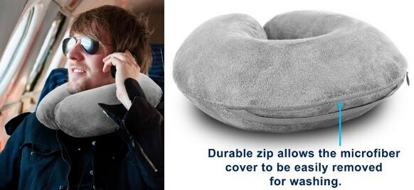 Best sales ergonomic neck pillow for travel sitting