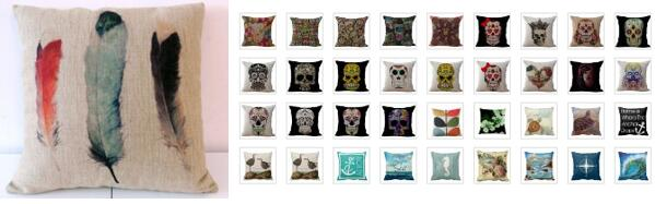 Cotton Linen Square Throw Pillow Case Decorative Cushion Cover