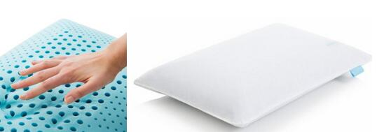 Dual Zone Gel Memory Foam Ergonomic Contour Pillow with holes