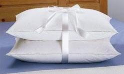 Firm White Goose Feather and Goose Down Pillows Sets