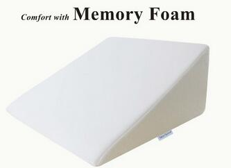 Foam Wedge Bed Reading Pillow Removable Cover