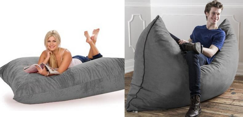 Jaxx Bean Bags Pillow Saxx Microsuede Bean Bag Pillow 5.5 feet