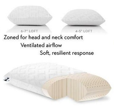 Malouf Talalay Latex Zoned Pillow