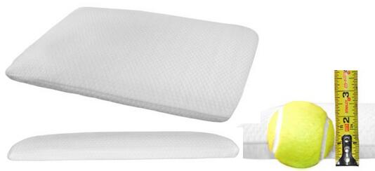 Ultra Slim Sleeper Memory Foam Pillow Firm Flat Pillow