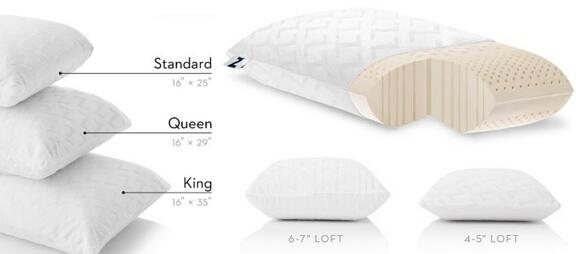 Z by Malouf 100% Natural Talalay Latex Firm Pillow