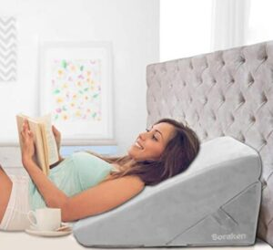 wedge pillow for reading in bed