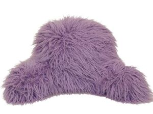 Brentwood Originals Mongolian Fur Jr Back Rest Pillow for Reading in Bed