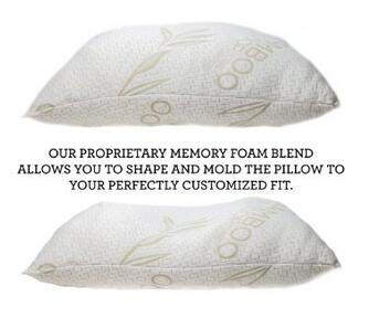 medium firm shredded memory foam pillow for side sleepers