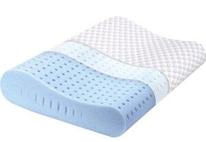 ergonomic contoured cervical orthopedic pillow