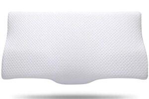 contoured orthopedic slow rebound memory foam pillow