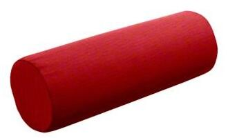 Red outdoor throw pillow bolster
