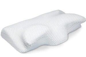 contoured cervical orthopedic memory foam pillow