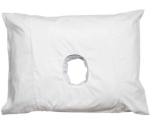 sleeping pillow with a hole