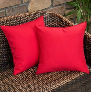 red outdoor pillows