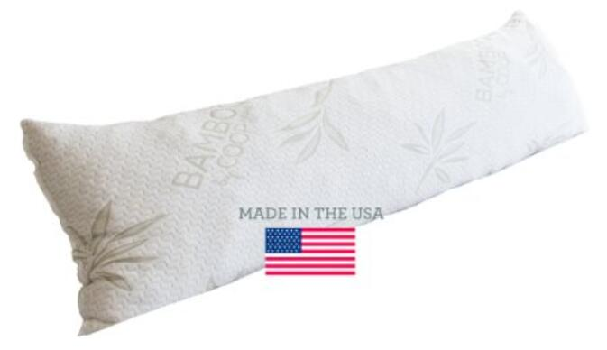 The Original Shredded Memory Foam Body Pillow with Viscose Rayon Cover derived from Bamboo - Coop Home Goods - Made in the USA