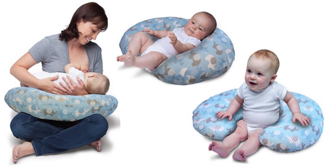 Boppy Pillow Slipcover Classic Elephants Blue
