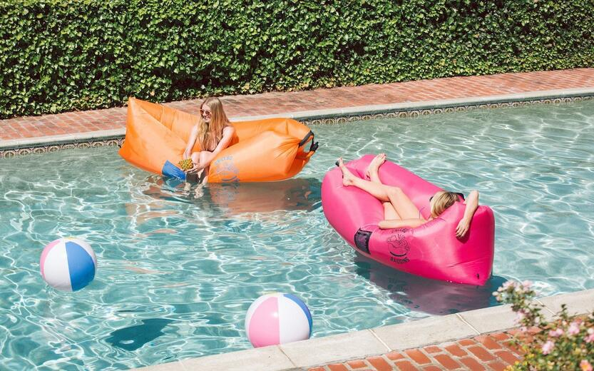 Chillbo Baggins Inflatable Lounge Bag Hammock Air Sofa and Pool Float Ships Fast