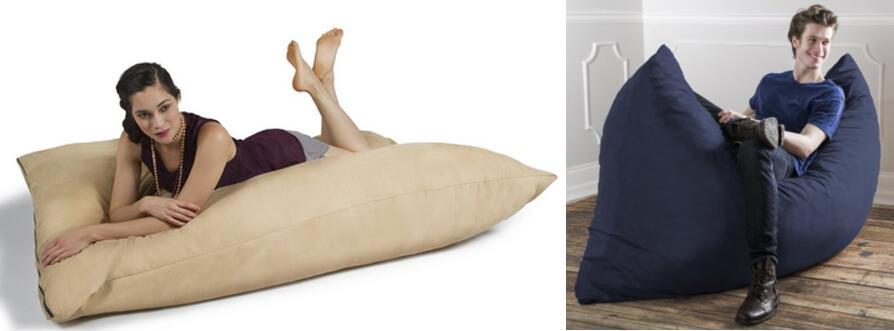 Jaxx Bean Bags Pillow Saxx Microsuede Bean Bag Pillow 5.5-Feet