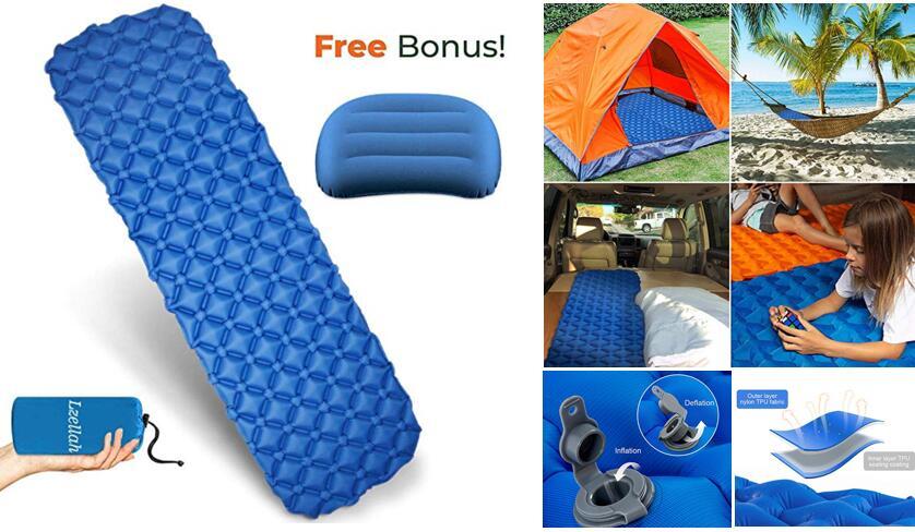 Lzellah outdoor ultralight air mattress and pillow