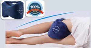 Best selling knee pillow with strap for side sleeping