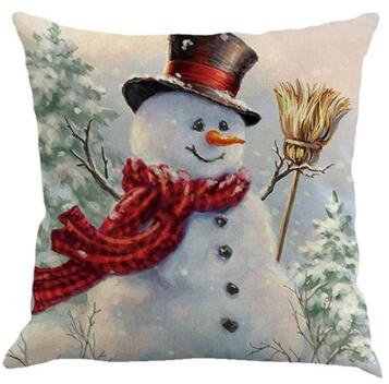 Best Christmas Snowman Snowflake Theme Pillow Covers