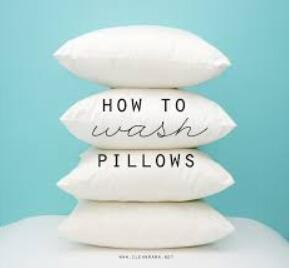 how to wash pillow guide