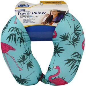 microbead travel pillow for long haul flight