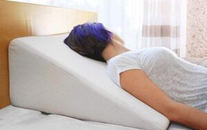 pain relief wedge pillow for reading