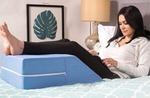 orthopedic wedge pillow for leg elevation