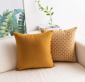 yellow pillow cover for couch