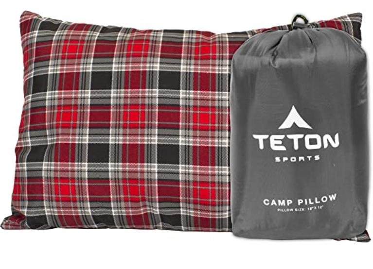 stuff sack backpacking pillow for side sleepers