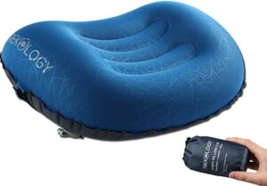 ergonomic inflatable pillow for backpacking