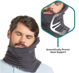Neck wrapped pillow for flight