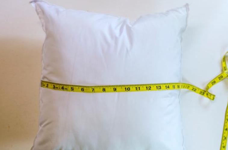 guides for measuring a pillow